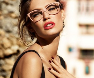 model, glasses, and Bianca Balti image