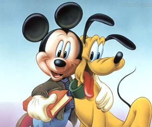 disney, dog, and mickey mouse image