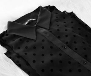 fashion, black, and shirt image