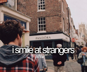 smile, strangers, and quote image