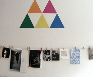 photography, triangle, and wall image