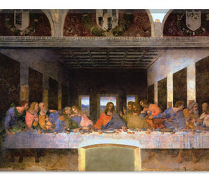 the last supper and leonardo da vinci canvas image