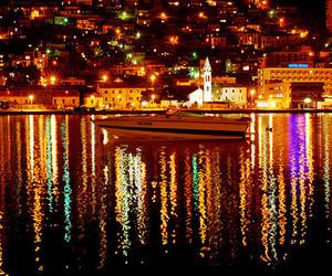 boat, colors, and Croatia image