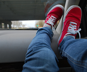 vans, red, and photography image