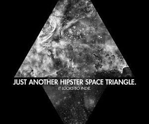 hipster, triangle, and space image