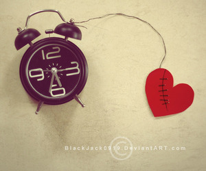 heart, broken heart, and time image
