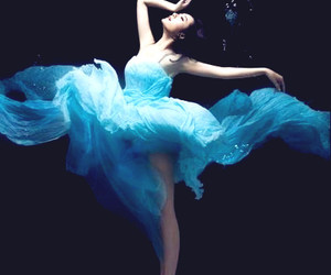 blue, water, and dress image