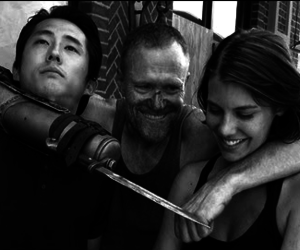 the walking dead, black and white, and photography image