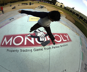 skate, monopoly, and boy image