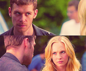 klaus, caroline, and the vampire diaries image
