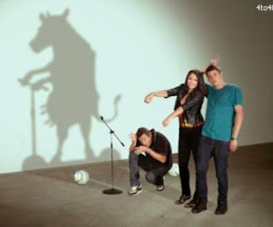 funny, cow, and shadows image