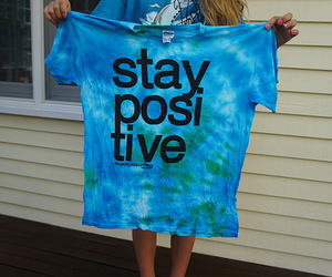stay positive, blue, and photography image