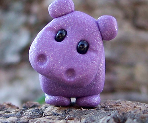 cute, hippo, and purple image