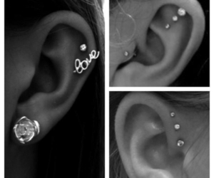 earings, fashion, and Piercings image