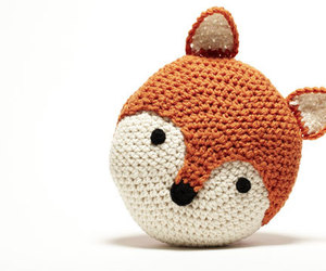 crochet, fox, and cute image