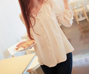 girl and korean fashion image