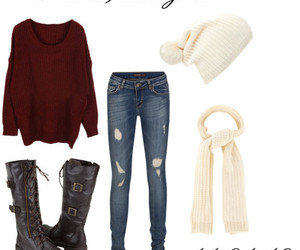 boots, knit sweater, and shoes image