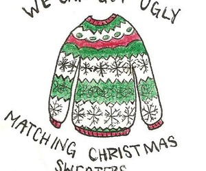 christmas, sweater, and ugly image