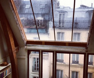 rain, window, and paris image