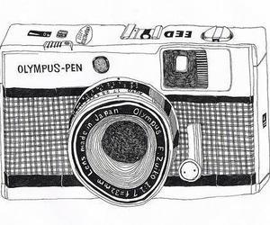 camera, drawing, and Olympus image
