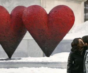 couple, kiss, and montreal image