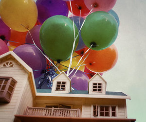 up, balloons, and colorful image