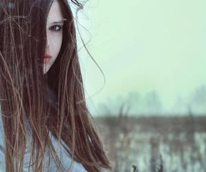 beautiful, brown hair, and long hair image