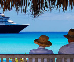 beach, blue, and cruise image