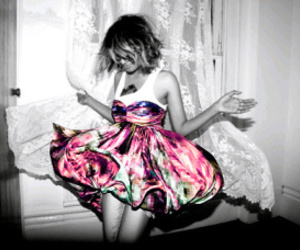 girl, dress, and M.I.A. image