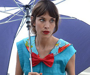 alexa chung, bow, and umbrella image