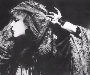 stevie nicks and black and white image