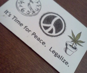 420, peace, and weed image