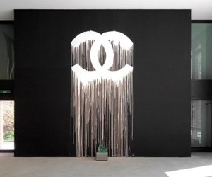 chanel, art, and black image