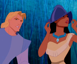 disney, john smith, and pocahontas and john smith image