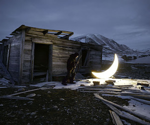 beautiful, house, and moon image