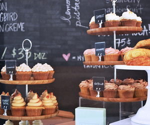 cafe, coffee, and cupcakes image