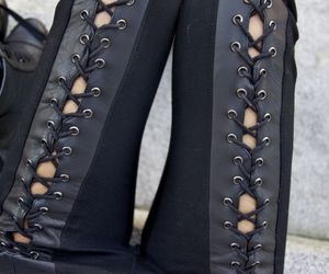 cool, leather, and pants image