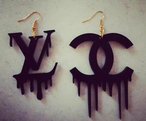 chanel, earrings, and Louis Vuitton image