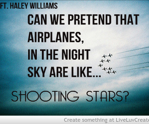 night, quote, and shooting stars image