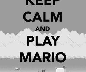 keep calm, game, and mario image
