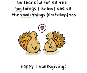 thanksgiving, turkey, and love image