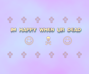 dead and happy image