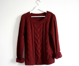 fashion, sweater, and red image