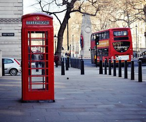 telephone, bus, and london image