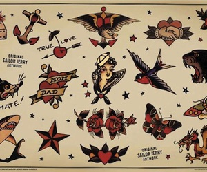 d, sailor jerry, and traditional image