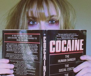 cocaine, girl, and book image