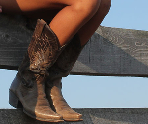 country love cowboy boots image