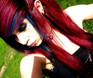 red hair and scene image