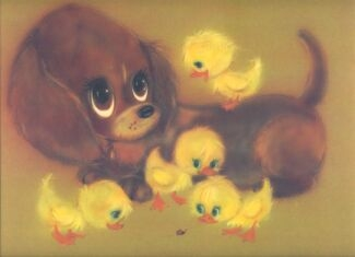 60's, big eyes, and ducklings image