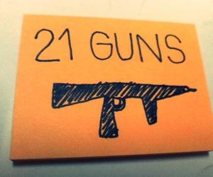 gun, guns, and post it image